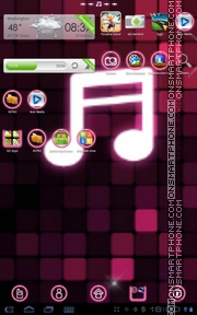 Pink Music tema screenshot
