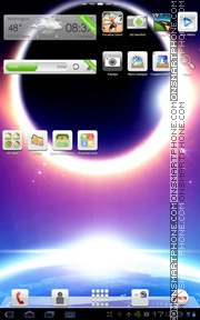 Space Galaxy Android tema screenshot
