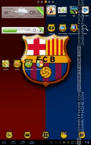 Barcelona FC 03 theme screenshot