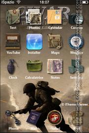 War 01 es el tema de pantalla