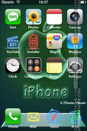 Glass Apple iPhone theme screenshot