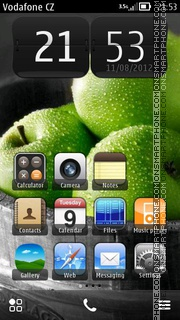 Green Apples theme screenshot