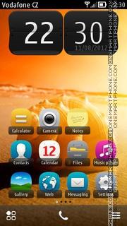 Shell On Beach es el tema de pantalla