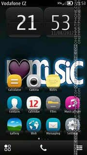 I Luv Music theme screenshot