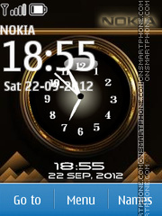 Brown Nokia Dual Clock theme screenshot