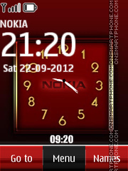 Nokia Dual Clock 08 theme screenshot