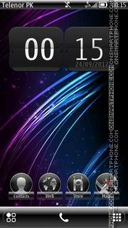Purple Lines theme screenshot
