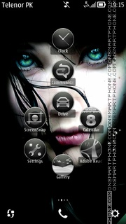 Greeneyes Gurl theme screenshot