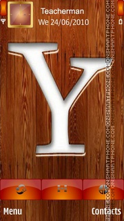 Yahoo Logo in Wood theme screenshot