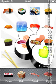 Sushi iPhone theme screenshot