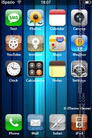 Скриншот темы Blue Wood