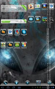 Blu Alien theme screenshot