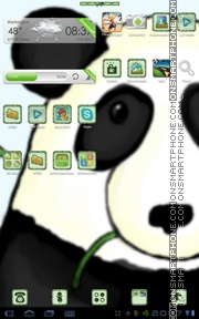 Bamboo Panda theme screenshot