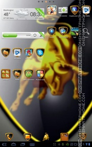 Lamborghini 16 theme screenshot