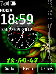 Green Flower 02 theme screenshot