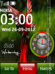 Parrot Dual Clock theme screenshot