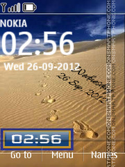 Desert Digital Clock theme screenshot