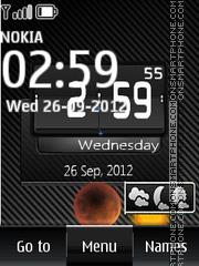 Black Htc Digital Clock theme screenshot