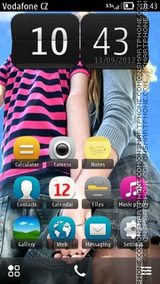 Cute Couple HD tema screenshot