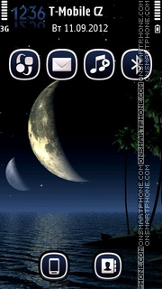 Tropic Nights theme screenshot