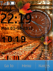 Autumn Clock SWF theme screenshot