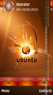 Ubunto Logo es el tema de pantalla