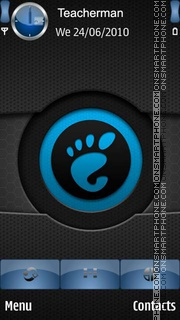 The Eye of Blue Gnome theme screenshot