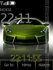 Green Auto theme screenshot