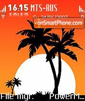 Sun and Palms es el tema de pantalla