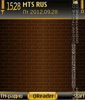 Скриншот темы Golden Wall