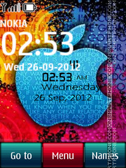 Apple Digital Clock Theme-Screenshot