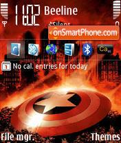 Captain America 01 es el tema de pantalla