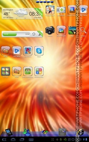 Скриншот темы Windows 8 Theme Go Launcher