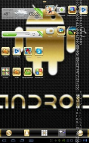 Gold Droid PRO tema screenshot