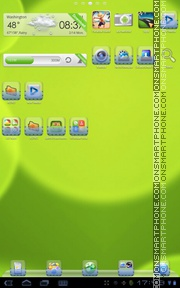 Green Bubbles Ridsoul theme screenshot