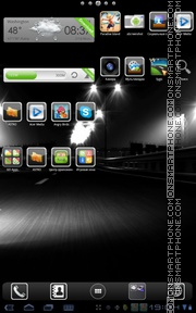 Black Street theme screenshot