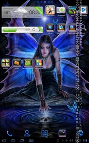 Blue Fairy 01 theme screenshot