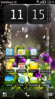 Rain With Flowers theme screenshot