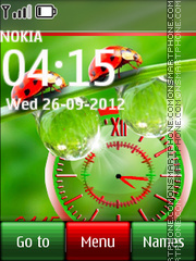 Beetle Dual Clock theme screenshot