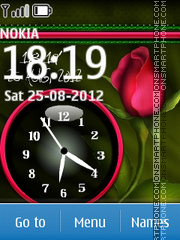 Rose Dual Clock 01 tema screenshot
