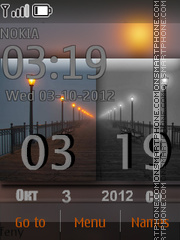 Bridge and Clock tema screenshot
