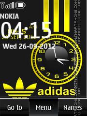 Adidas Dual Clock es el tema de pantalla