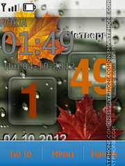 Rain And Clock tema screenshot