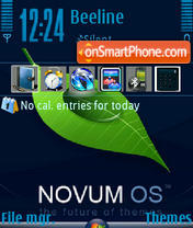 Novum OS theme screenshot