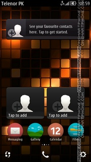 Orange Mosaic theme screenshot