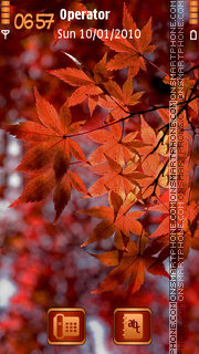 Autumn Leaves tema screenshot