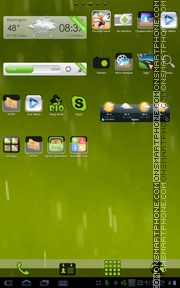 Rain 07 tema screenshot