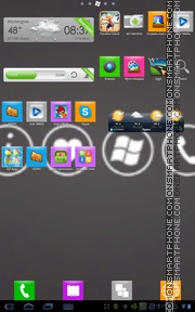 Windows Phone 7 Style tema screenshot