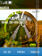 Скриншот темы Road Dual Clock