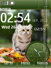 Kitten Dual Clock theme screenshot